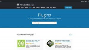 Wordpress plugins landing page
